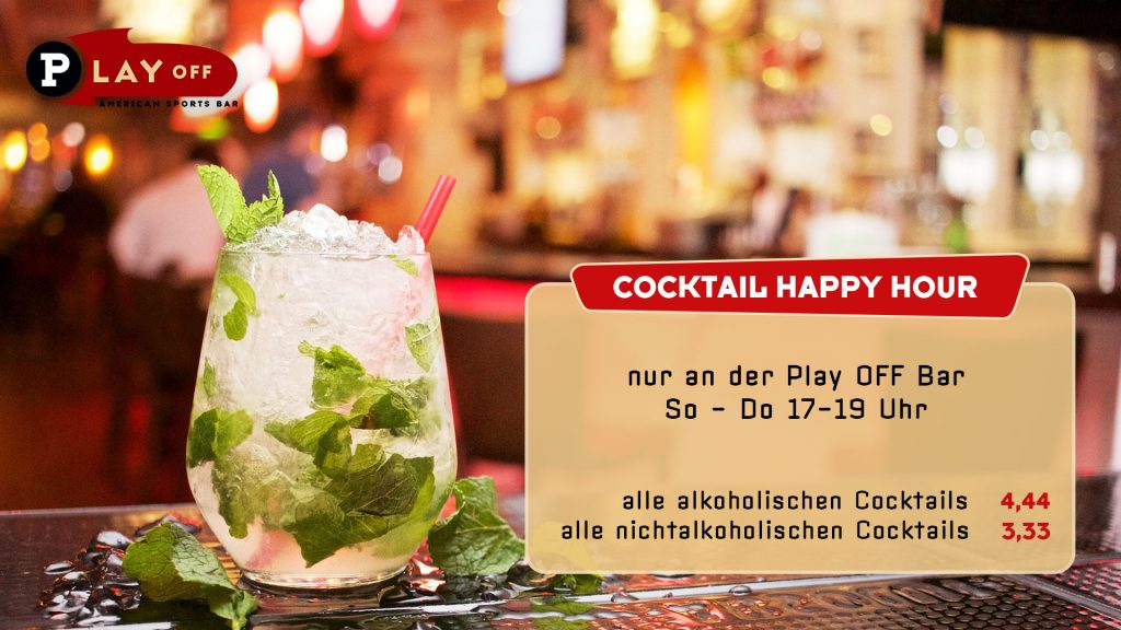 Cocktail Happy Hour im Play Off Marzahn