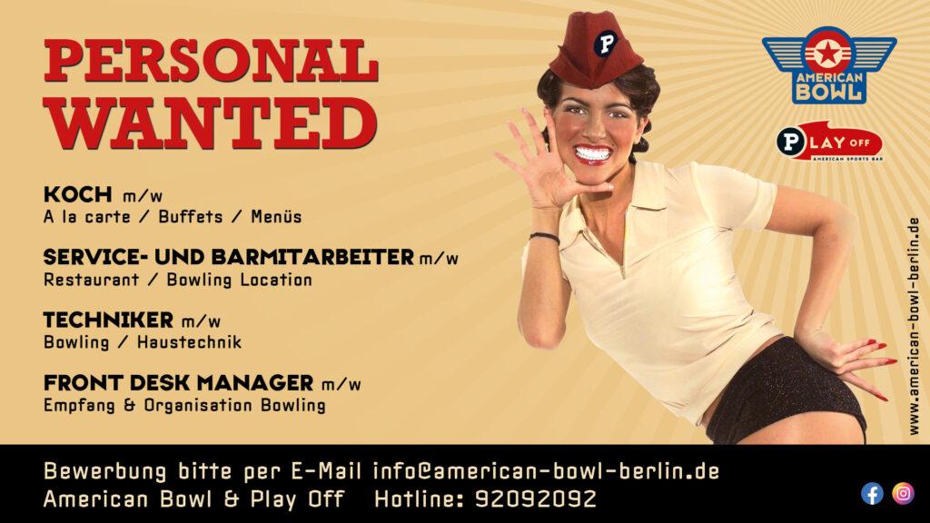 Jobs im Bowling in Berlin Marzahn - jetzt bewerben! WIR SUCHEN: Koch m/w, Service & Bar Mitarbeiter m/w, Front Desk Manager m/w